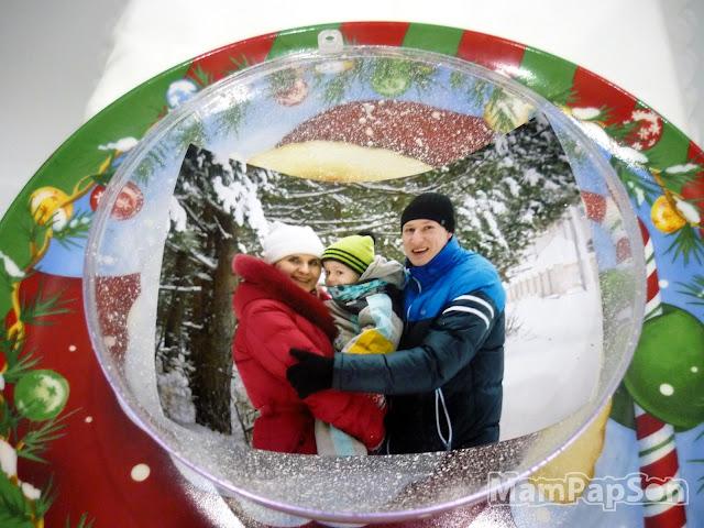 прозрачный елочный шар с фотографией