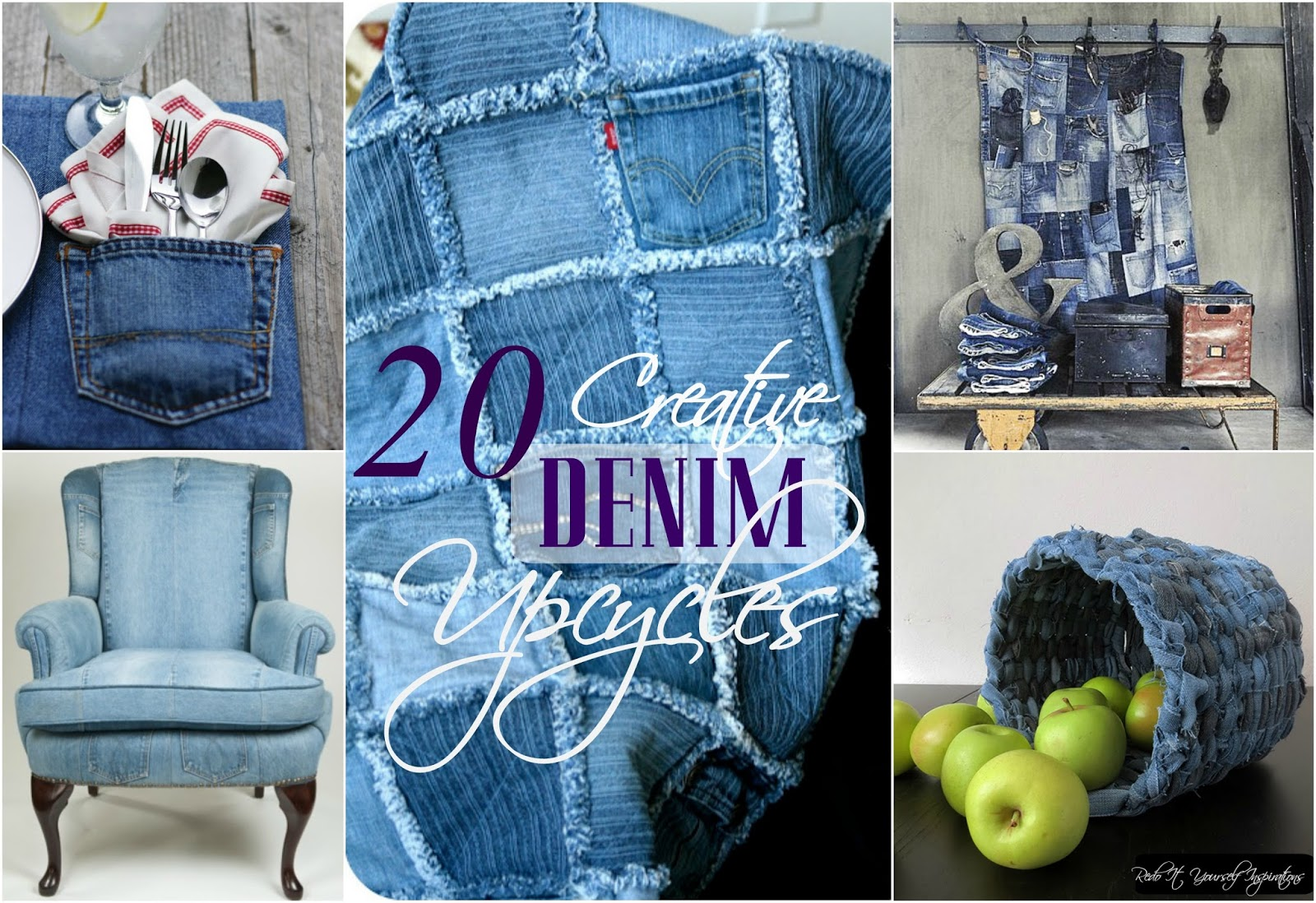 Ways to recycle old jeans - I Love Recycled Denim Projects There S A Natural Charm About Them Face It Jeans Have Been Around Since The 1800 S And We Have Developed Our Favorites