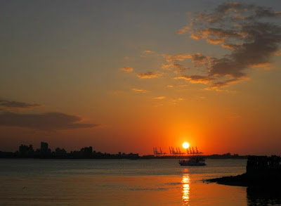 Sunset View at Fisherman Wharf, Tamsui