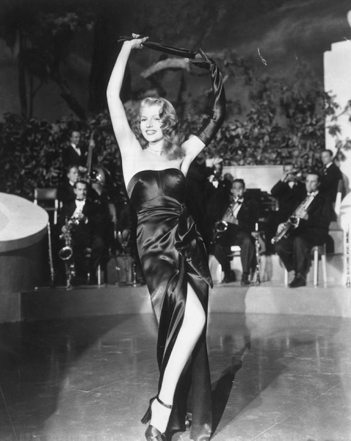 Rita Hayworth in Gilda, 1946 #vintage #black #dress #1940s #hayworth