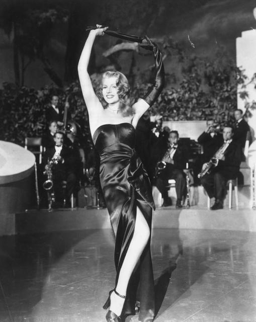 Rita Hayworth in Gilda, 1946 #vintage #black #dress #1940s #hayworth