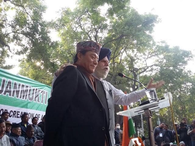 SS Ahluwalia ( DARJEELING MP ) With GTA & Gorkha Janmukti Morcha Chief Bimal Gurung