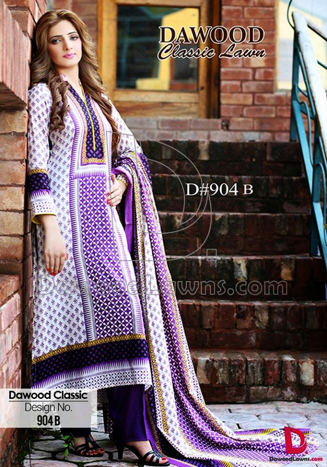 Dawood latest summer lawn collection 2015