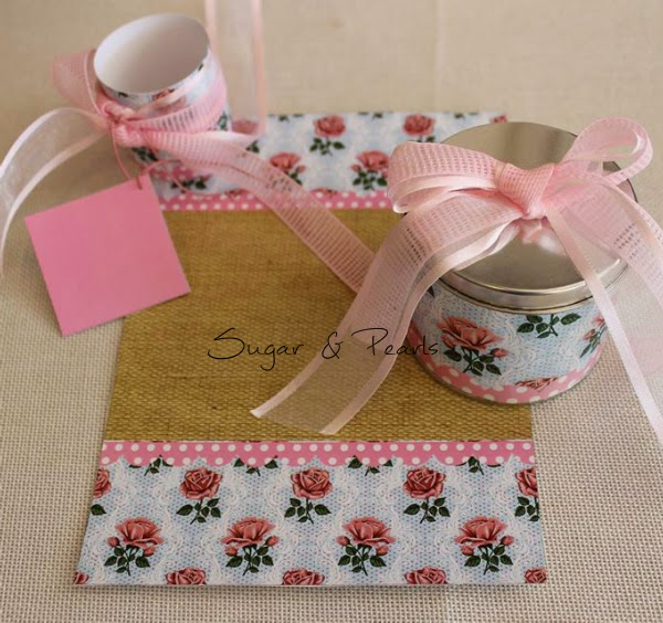 Pink floral-προσκλητήριο ρολό