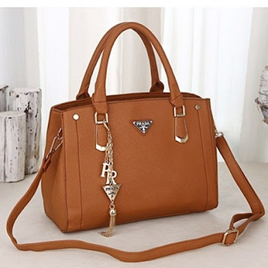 PRADA DESIGNER BAG - BROWN