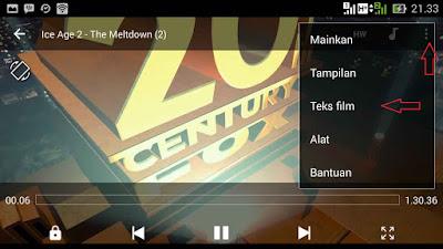 cara menampilkan subtitle film android