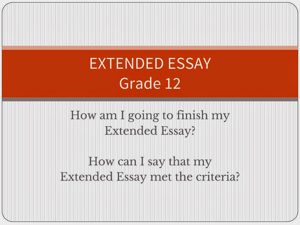 extended essay marks Introducing the requirements of the extended essay -- part of the international baccalaureate®diploma programme.
