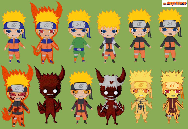 Chibi Naruto Bijuu Mode