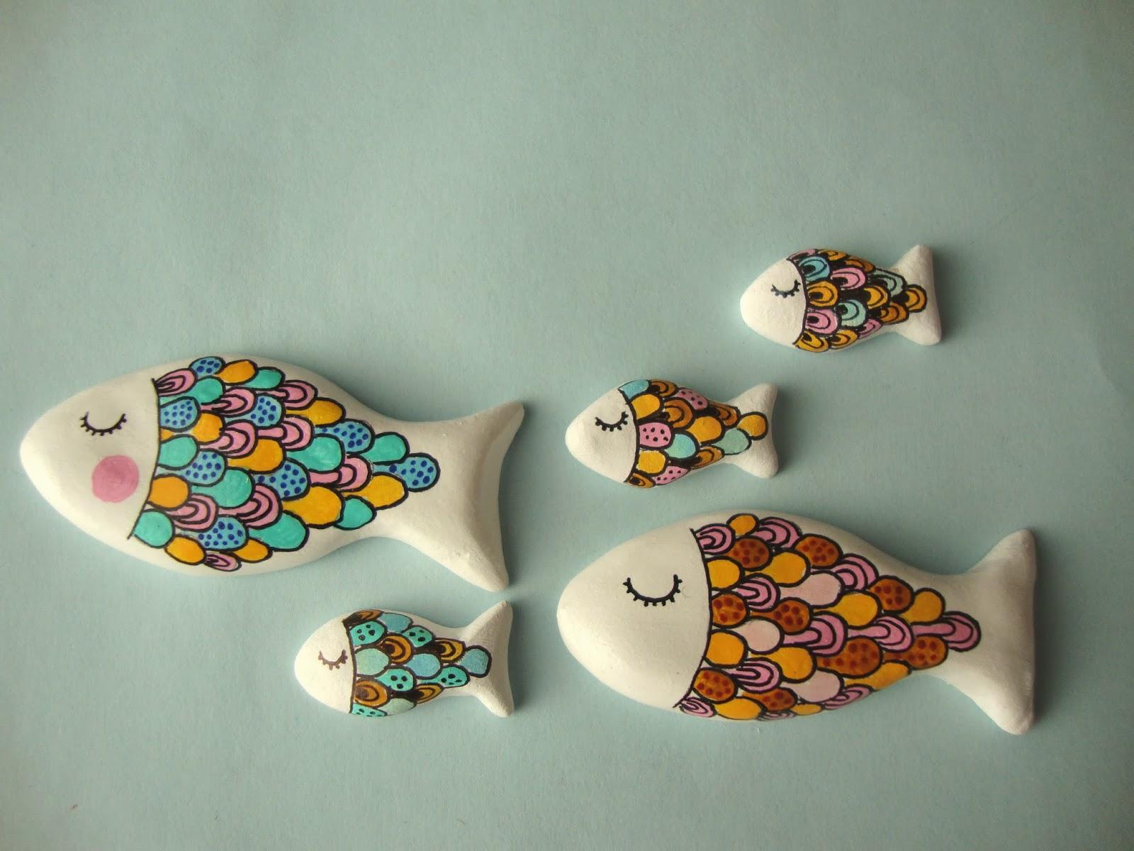 Brocheteando broche pez pasta de modelar - Pasta para modelar manualidades ...