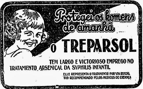 Remédio Treparsol para doenças venéreas, de 1927.
