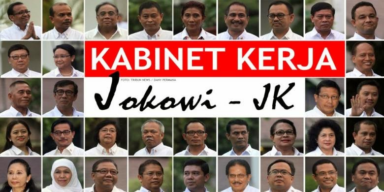 Daftar Lengkap Nama Nama Kabinet Kerja Jokowi Jk