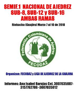Campeonato Semifinal 1 Sub-8, 12 y 16 Ambas Ramas 2018 (Dar clic a la imagen)