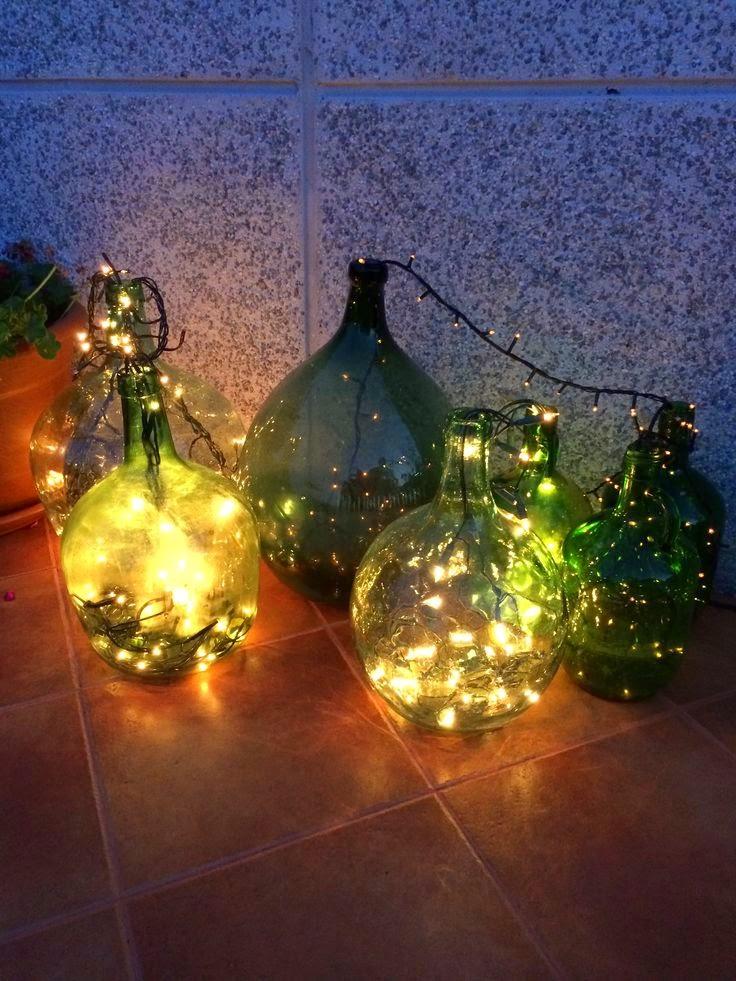 damajuana y luces led