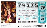 suerte, décimo, lotería, navidad, cinco, gordo, premio