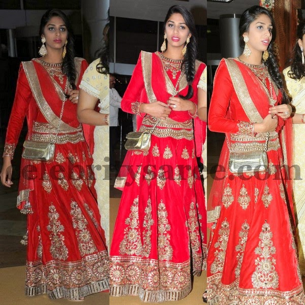 Pinky Reddy Daughter Lehenga