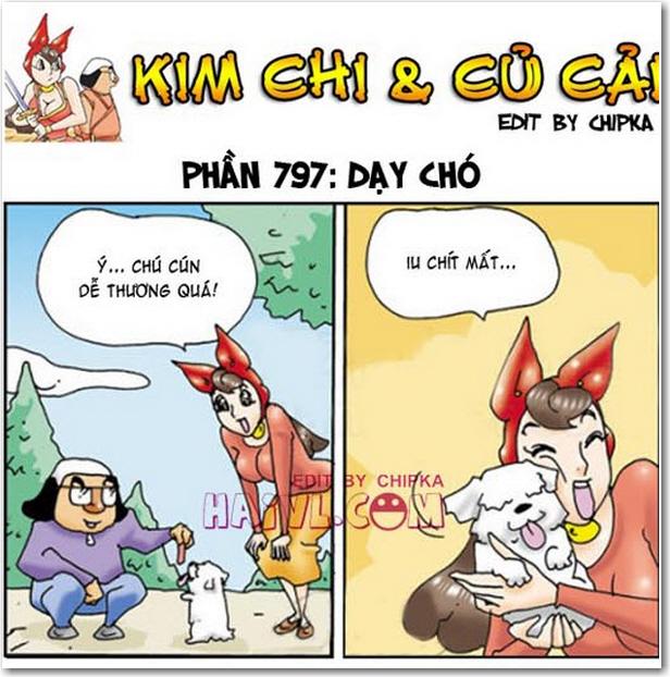 Kim chi và củ cải phần 797 - Dạy chó.  Đón xem trọn bộ truyện tranh 18+ Kim chi và củ cải tại góc thư giản