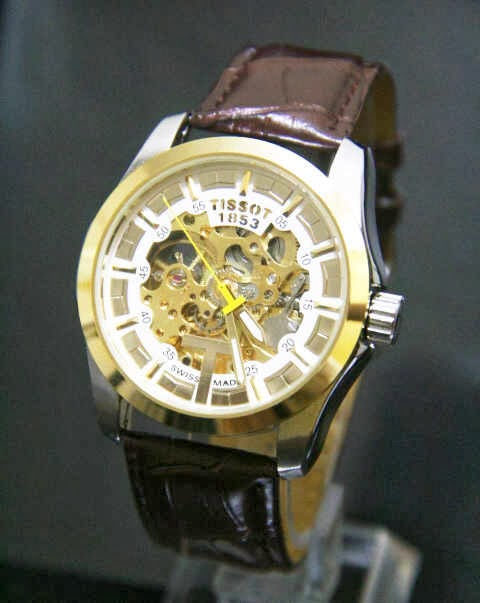 Jam Tangan Tissot Sekeleton Leather