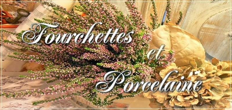 Fourchettes et Porcelaine