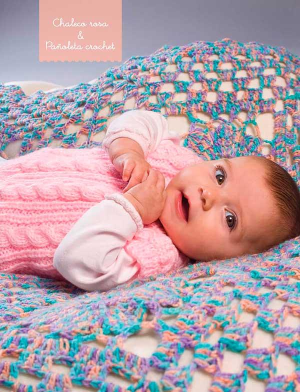Tutorial de tejido para el bebé: mantilla y chaleco