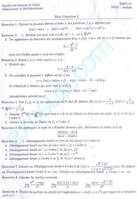 TD Analyse 1 série SMPC S1 FSR