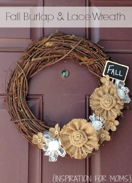burlap and lacegrapevine wreath http://www.mommyiscoocoo.com/