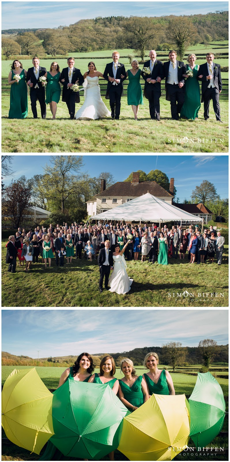 Group wedding photographs