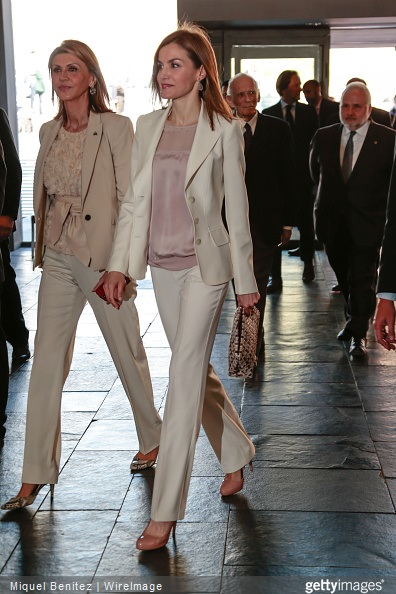 Queen Letizia of Spain attends the 2nd Congress of Rare Childhood Diseases at CosmoCaixa on April 14, 2015 in Barcelona, Spain.