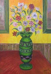 Flores en una mesa