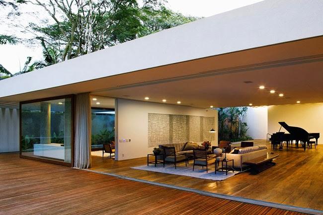 Casas minimalistas y modernas casa minimalista en brasil for Casa minimalista uy