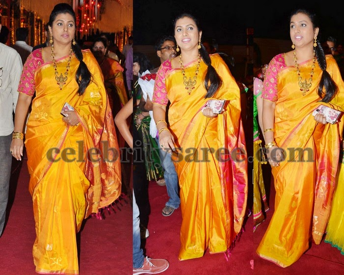 Roja Yellow Uppada Saree