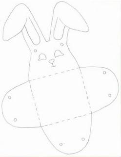 Cestinha de páscoa de coelhos
