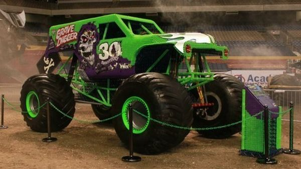 Grave Digger Replica Made From K Nex Puts Lego Cars To