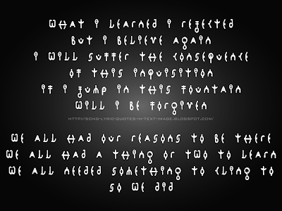 Forgiven - Alanis Morissette Song Lyric Quote in Text Image