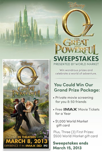 OZ The Great and Powerful Sweepstakes