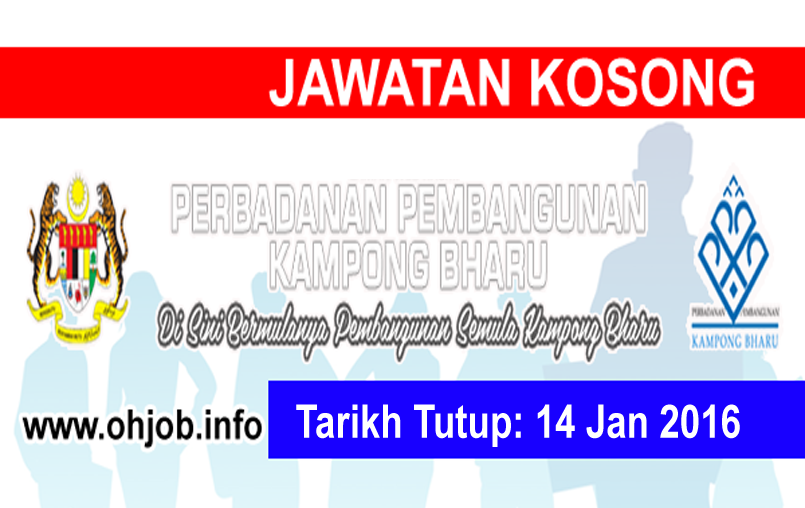 Jawatan Kerja Kosong Perbadanan Pembangunan Kampong Bharu (PKB) logo www.ohjob.info januari 2016
