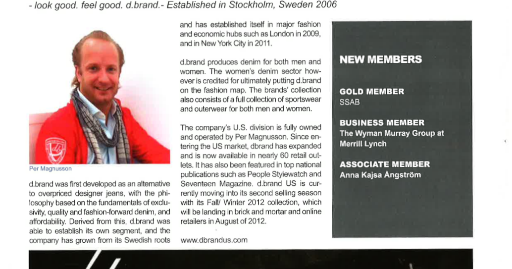Welcome to d.brand US blog: d.brand in SACC Mag!!