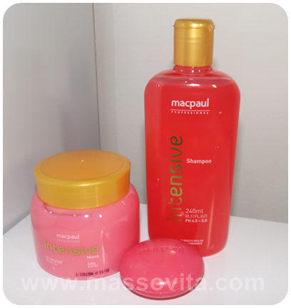 Kit Intensive Shampoo, Sabonete, Mask