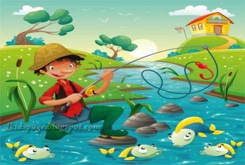 Kids page the fisherman and the little fish aesop moral for Fish short story