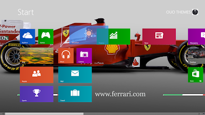 Fernando Alonso Formula Windows 8 Theme