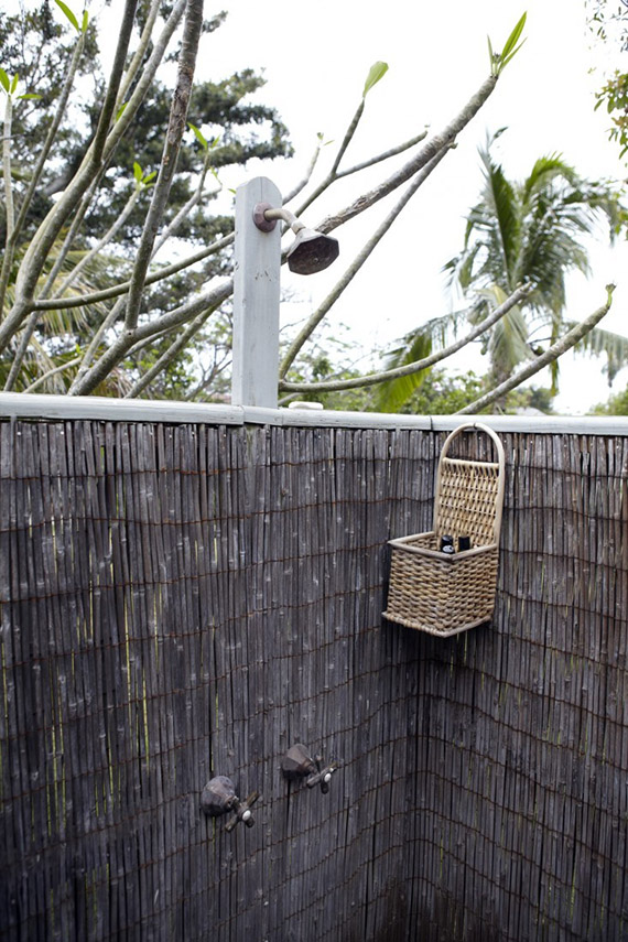 Outdoor shower | Image by Francesco Lagnese via Remodelista
