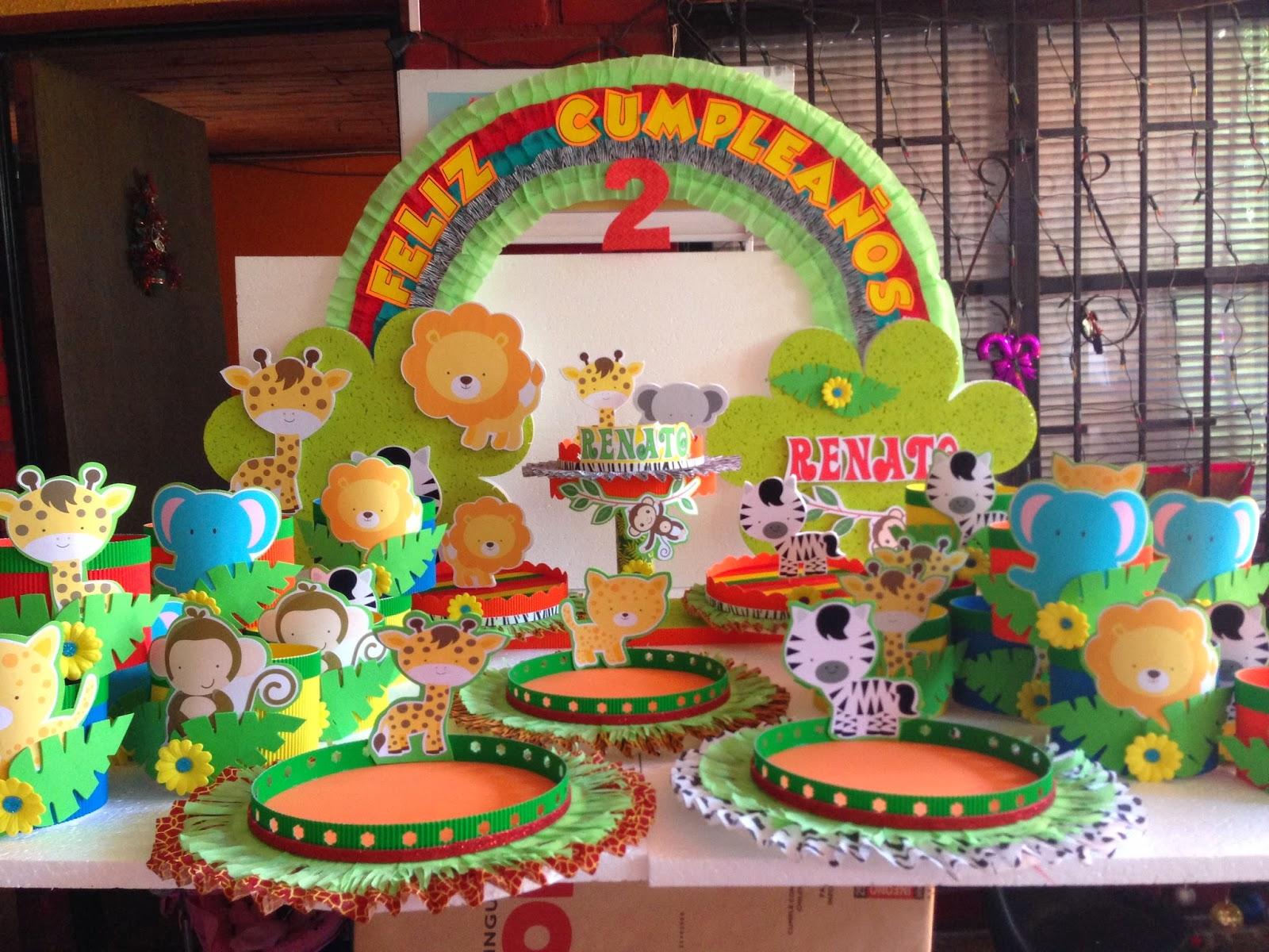 Decoraciones infantiles animalitos de la selva - Decoracion fiesta de cumpleanos infantil ...