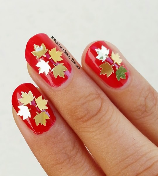 Makeup and Beauty Treasure: Born Pretty Store Maple Leaf Nail Art Review