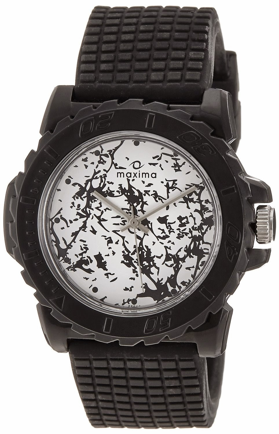 Maxima Avant Garde Analog White and Black Dial Men's Watch for Rs 625 (Price Up)