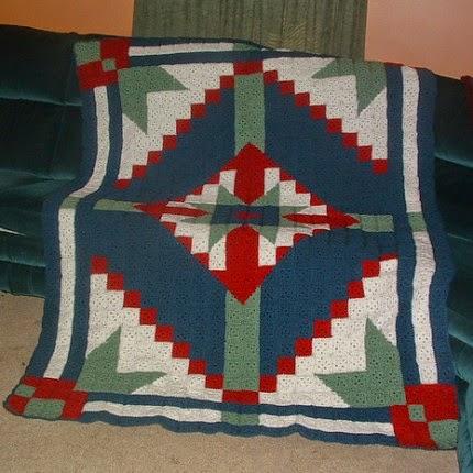 Desert Star Crochet Quilt - Free Pattern