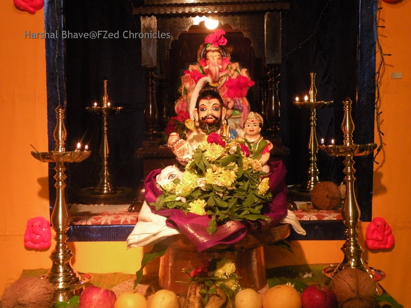 Ganesh chaturthi flowers may flower blog - An Idol Of Lord Ganesha In A House As Part Of Ganesh Chaturthi Celebrations In A