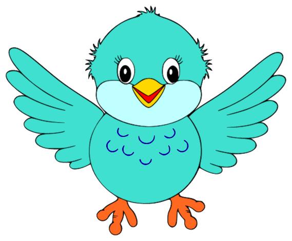 Cute little blue bird