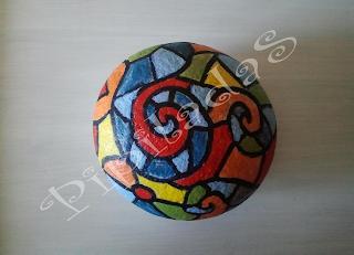 Pipiladas piedra vidriera