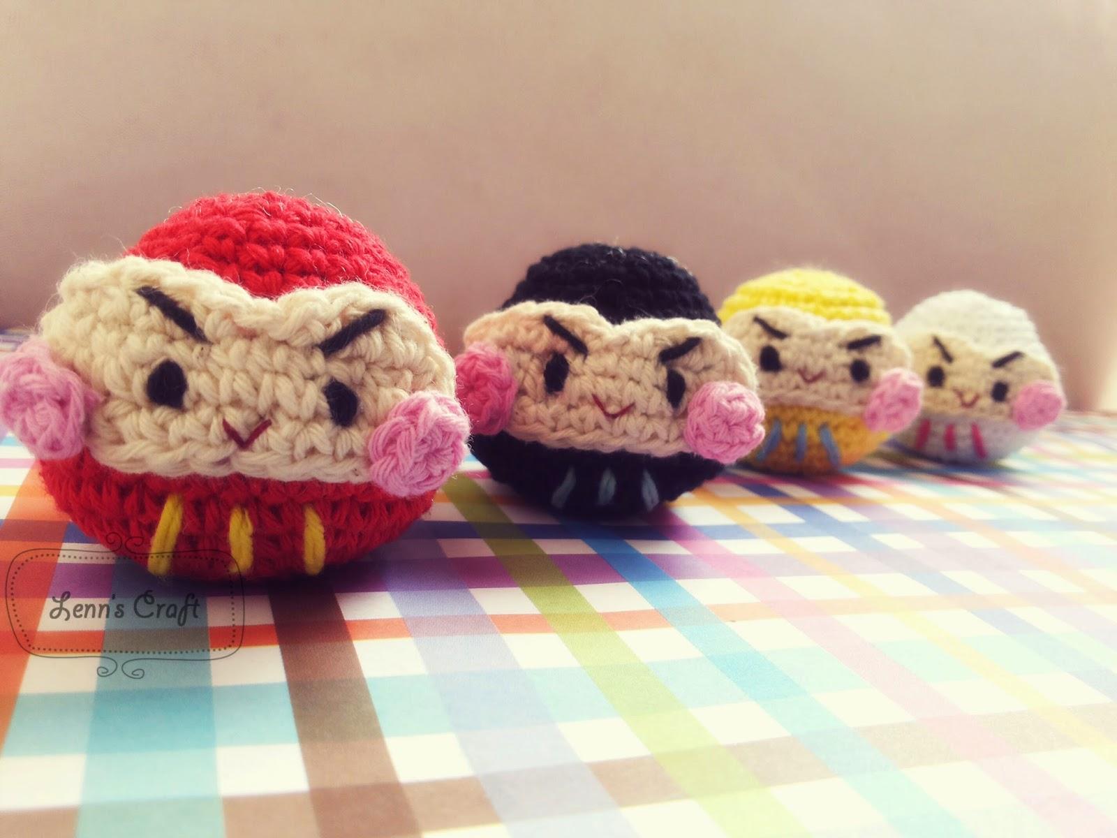 Amigurumi Japanese Meaning : Lenns Craft  Handmade doll Amigurumi  : Daruma ...