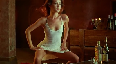 Maggie Q striptease in naked weapon 2002