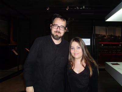 El director de cine Paco Plaza con nuestra redactora Tania Sanz García. EL INVITADO. Making Of